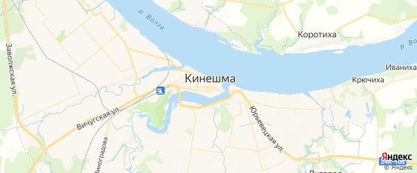 Карта Кинешмы с районами, улицами и номерами домов