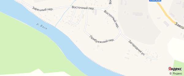 Прибрежный переулок на карте Вельска с номерами домов