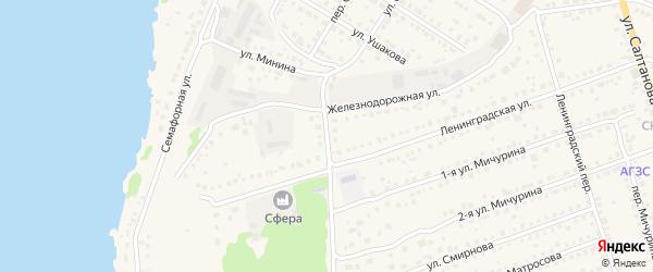 Железнодорожный переулок на карте Выксы с номерами домов