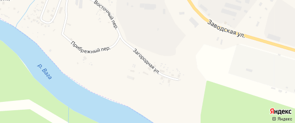 Загородная улица на карте Вельска с номерами домов