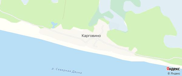 Карта поселка Карговино в Архангельской области с улицами и номерами домов