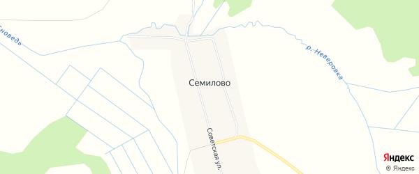 Карта села Семилово города Выксы в Нижегородской области с улицами и номерами домов