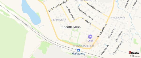 Карта территории СНТ N9 города Навашино в Нижегородской области с улицами и номерами домов