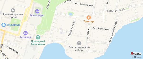 Советская улица на карте Выксы с номерами домов