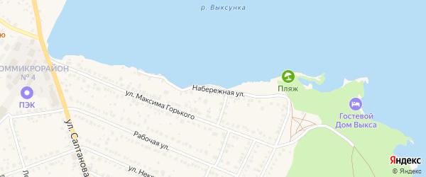 Набережная улица на карте Выксы с номерами домов