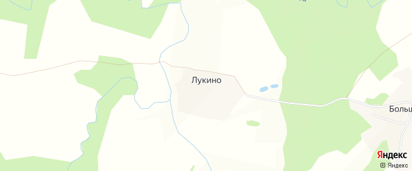 Карта деревни Лукино в Костромской области с улицами и номерами домов