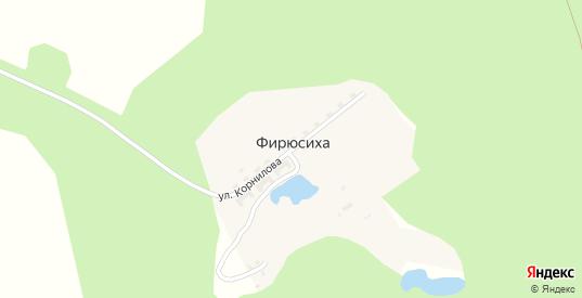Улица Корнилова в поселке Фирюсиха в Выксе с номерами домов на карте. Спутник и схема онлайн