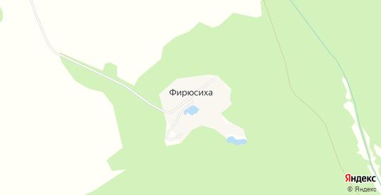 Карта поселка Фирюсиха в Выксе с улицами, домами и почтовыми отделениями со спутника онлайн