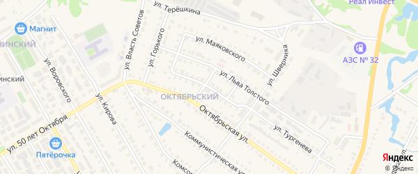 Улица Лермонтова на карте Навашино с номерами домов
