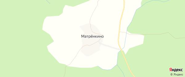 Карта деревни Матрёнкино в Костромской области с улицами и номерами домов