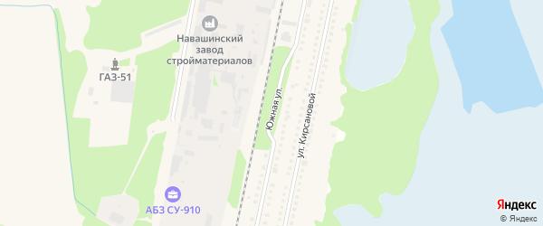 Южная улица на карте Навашино с номерами домов