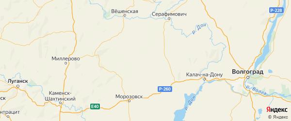 Карта Советского района Ростовской области с городами и населенными пунктами