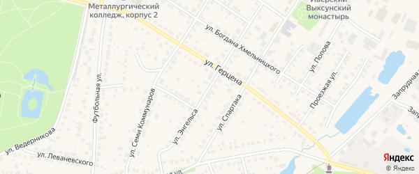 Улица Энгельса на карте Выксы с номерами домов