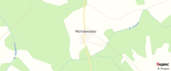 Карта деревни Мотовилово в Костромской области с улицами и номерами домов