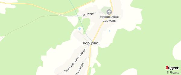 Карта села Корцово в Костромской области с улицами и номерами домов