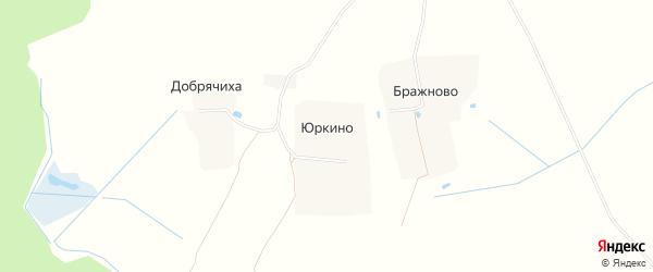 Карта деревни Юркина в Ивановской области с улицами и номерами домов