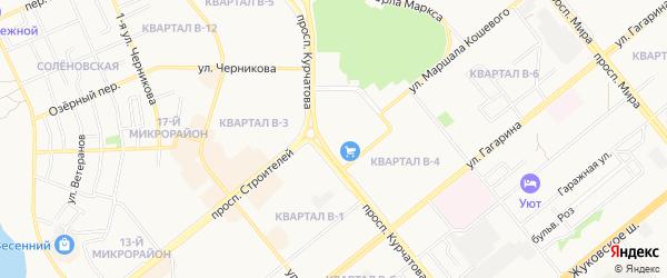 Карта поселка Атоммашевца города Волгодонска в Ростовской области с улицами и номерами домов