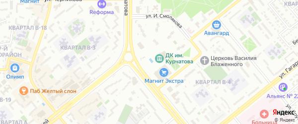 Улица 23-я линия на карте территории НТС Строителя с номерами домов