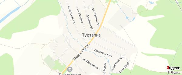 Карта села Туртапки города Выксы в Нижегородской области с улицами и номерами домов