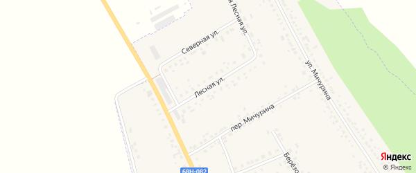 Лесная улица на карте Уварово с номерами домов