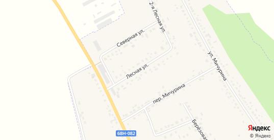 Лесная улица в Уварово с номерами домов на карте. Спутник и схема онлайн