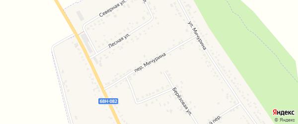 Переулок Мичурина на карте Уварово с номерами домов