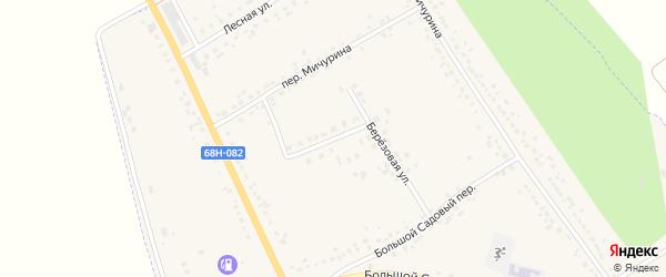 Березовый переулок на карте Уварово с номерами домов