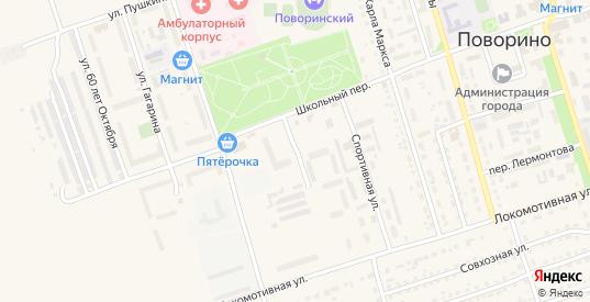 Солнечный переулок в Поворино с номерами домов на карте. Спутник и схема онлайн
