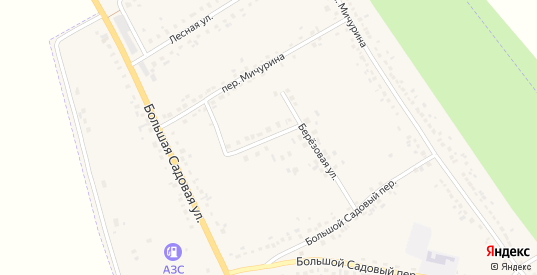 1-й Березовый переулок в Уварово с номерами домов на карте. Спутник и схема онлайн