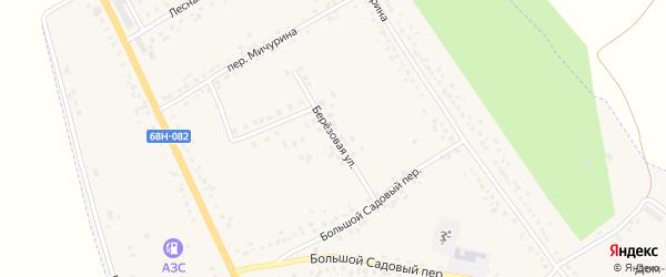 Березовая улица на карте Уварово с номерами домов