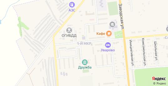 1-й микрорайон в Уварово с номерами домов на карте. Спутник и схема онлайн