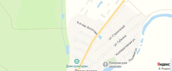 Богатова 5-й переулок на карте села Поздняково с номерами домов