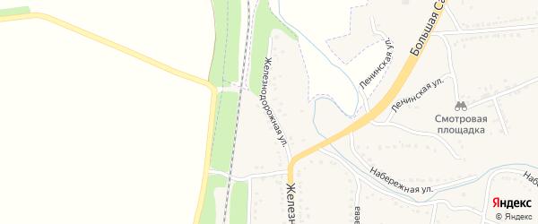 Железнодорожная улица на карте Уварово с номерами домов