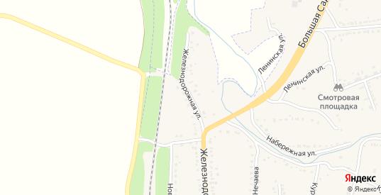 Железнодорожная улица в Уварово с номерами домов на карте. Спутник и схема онлайн