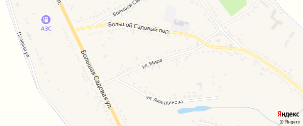 Улица Мира на карте Уварово с номерами домов