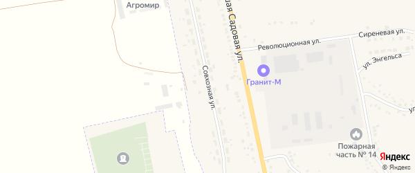 Совхозная улица на карте Уварово с номерами домов