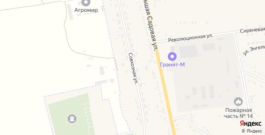 Совхозная улица в Уварово с номерами домов на карте. Спутник и схема онлайн