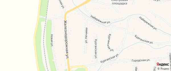Улица Нечаева на карте Уварово с номерами домов