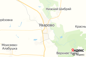 Карта г. Уварово Тамбовская область