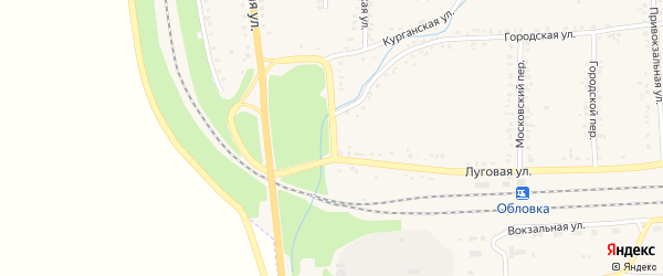 Железнодорожный переулок на карте Уварово с номерами домов