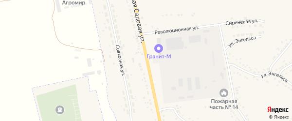 Большая Садовая улица на карте Уварово с номерами домов