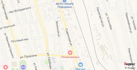 Советская улица в Поворино с номерами домов на карте. Спутник и схема онлайн
