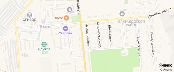 Инициативная улица на карте Уварово с номерами домов