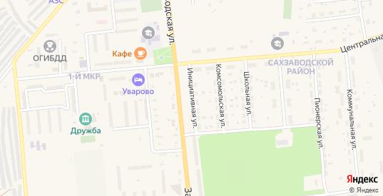 Инициативная улица в Уварово с номерами домов на карте. Спутник и схема онлайн