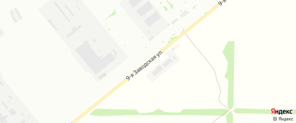 Заводская 9-я улица на карте Волгодонска с номерами домов