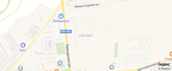 Микрорайон Рассвет на карте Уварово с номерами домов