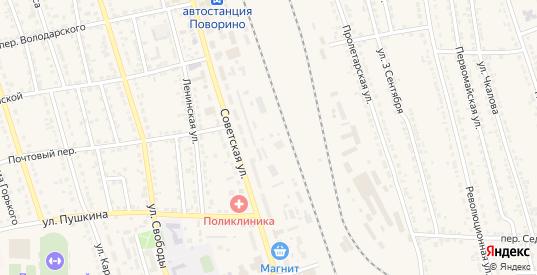Разъезд 710 км в Поворино с номерами домов на карте. Спутник и схема онлайн