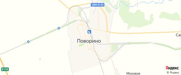 Карта Поворино с районами, улицами и номерами домов
