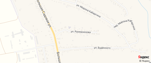 Улица Рахманинова на карте Уварово с номерами домов