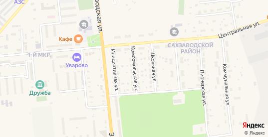 Комсомольская улица в Уварово с номерами домов на карте. Спутник и схема онлайн